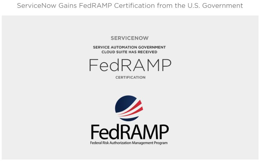 ServiceNow FedRAMP Certified