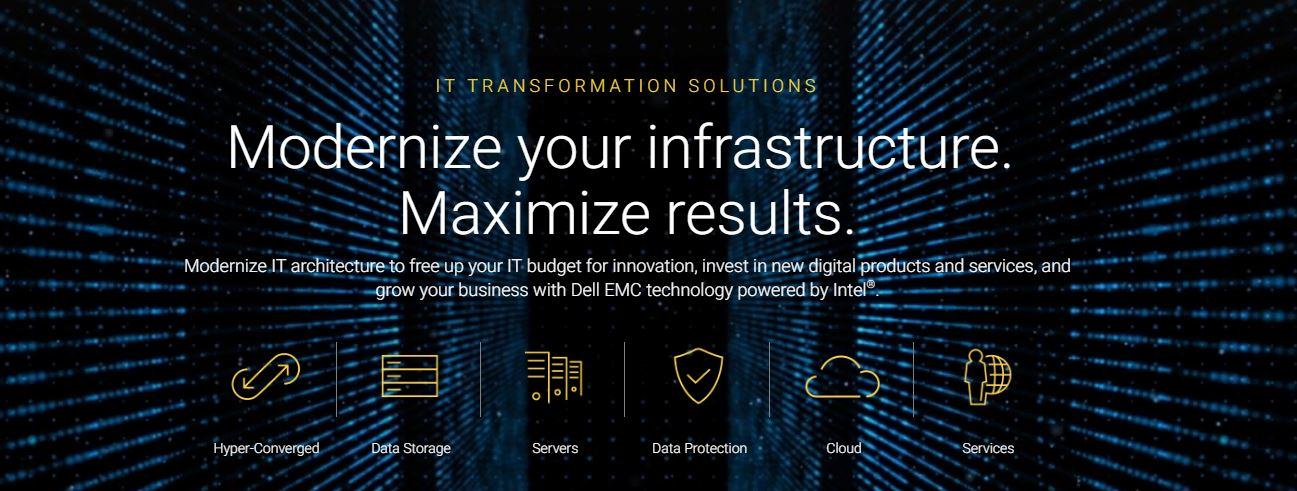 Dell Infrastructure Modernization Banner