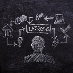 Blackboard of keys to success